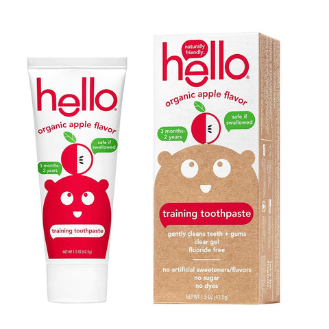 Hello Organic Apple Flavor Training Toothpaste, 1.5oz 854296004897A266