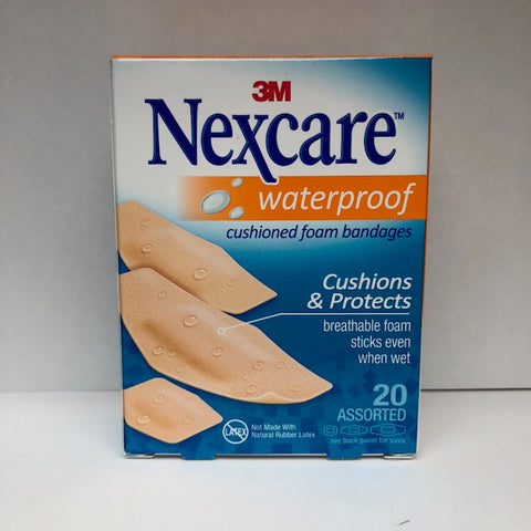 Nexcare Waterproof Foam Bandages, Assorted, 20ct 051131215719A175