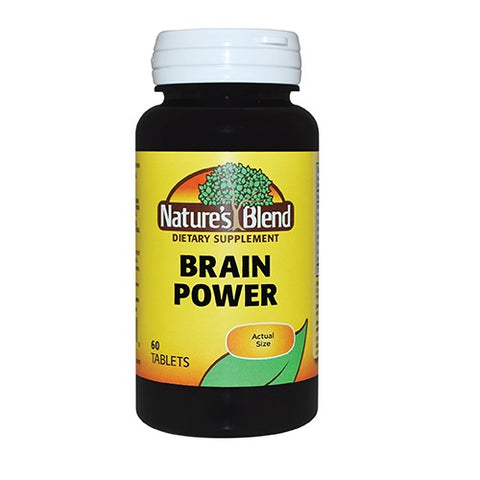 Nature's Blend Brain Power Tablets, 60ct 079854089578A947