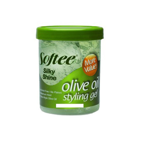 Softee Silky Shine Olive Oil Styling Gel, 16oz 096002002067A158