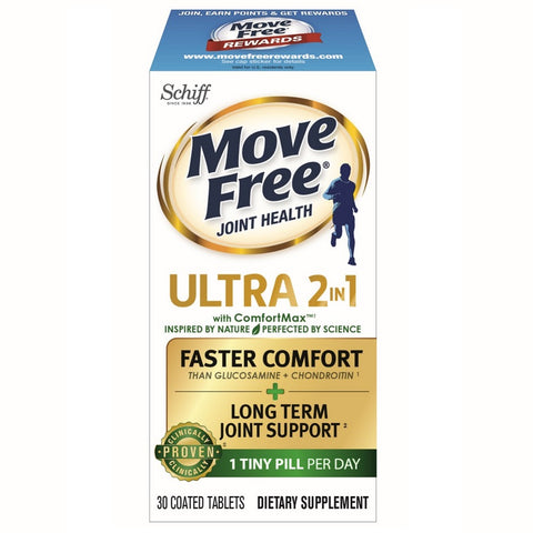 Schiff Move Free Ultra 2-in-1 Coated Tablets, 30ct 020525986245A1903