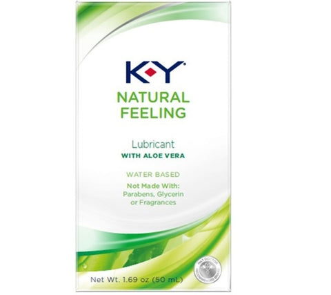 K-Y Natural Feeling Lubricant with Aloe Vera, 1.69oz 067981963021A616