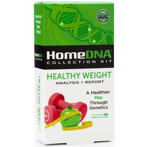HomeDNA Healthy Weight Analysis + Report Kit, 1ct 855462007025A287