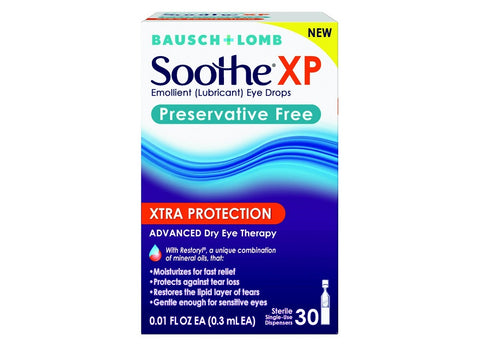 Bausch+Lomb SootheXP Xtra Protection Dispensers, 30ct 310119022382A921