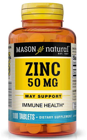 MASON NATURAL, Zinc 50 Mg Tablets, 100 Count