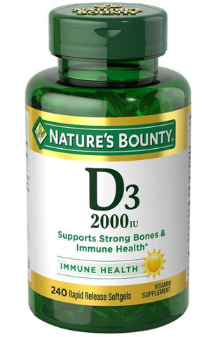 NATURES BOUNTY VITAMIN D3 2000 IU 240 CT