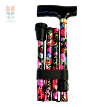 Patterned Folding Walking Stick