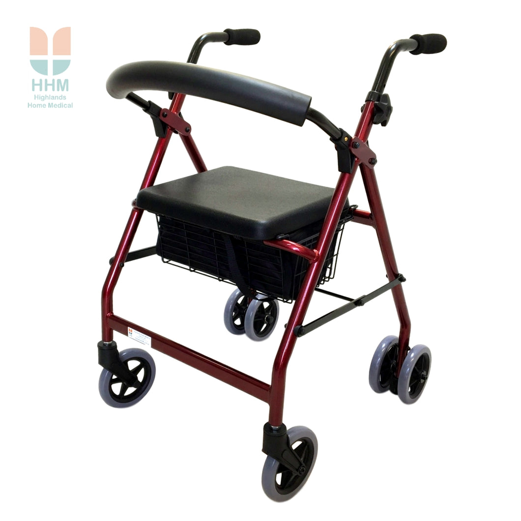 Push Down Wheeled Walker
