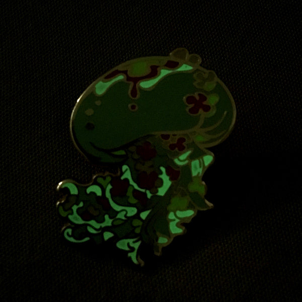 Ocean Spirit Premium: Floral Queen Jellyfish Pin (Glow in the dark)