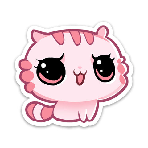 Ultra Satan, Pink Kitten, Vinyl Sticker