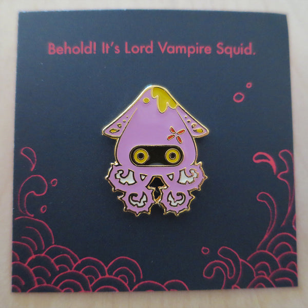Ocean Spirit: Lord Vampire Squid pin