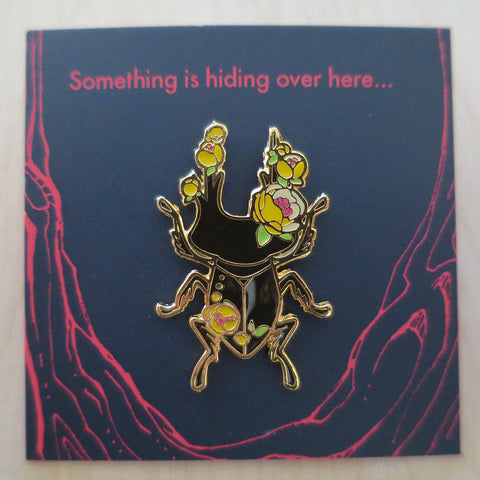 Insect Spirits: Stag Beetle Enamel Pin (Yellow)