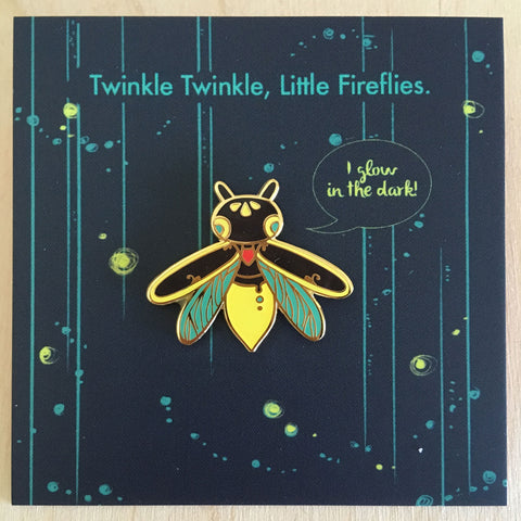 Insect Spirits: Firefly Enamel Pin (Glow in the Dark)