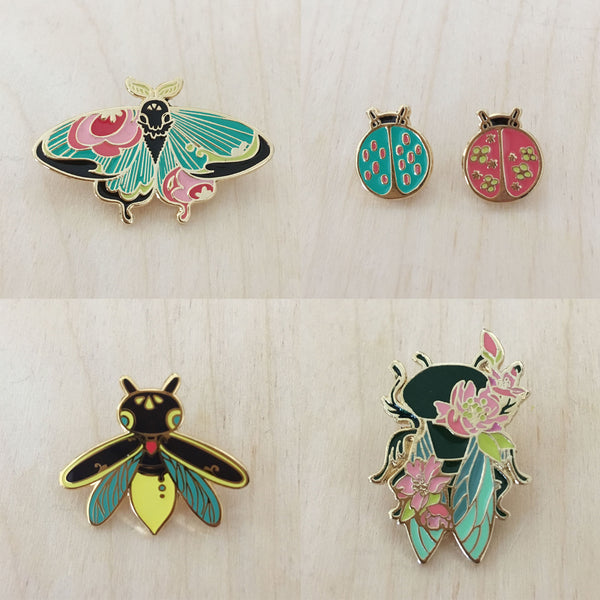 Insect Spirits: LadyBugs Enamel Pin (Set)