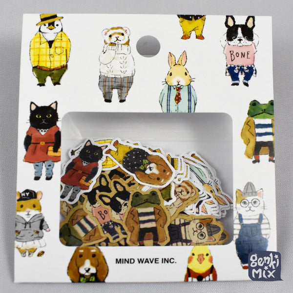 Cute Anthromorphic Animal Sticker pack