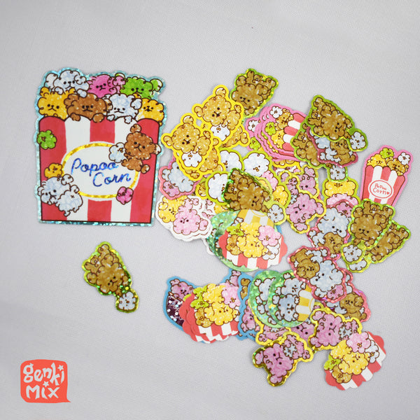 PopooCorn (Poodle x Popcorn) Sticker pack