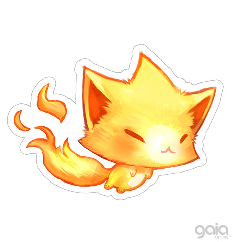 Baby Gold Kitten Star Vinyl Stickers