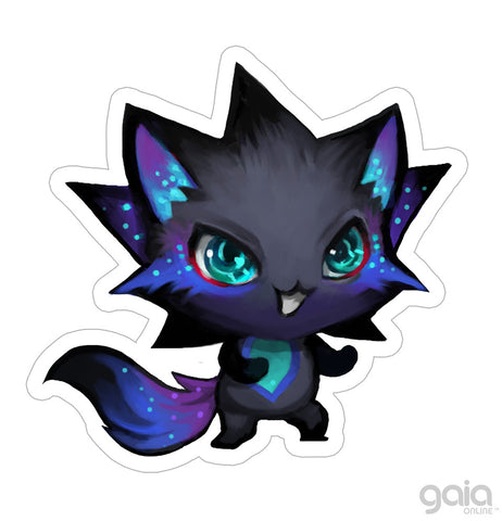 Dark Kitten Star Vinyl Stickers