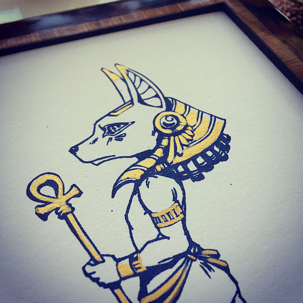 Egyptian Gods: Anubis & Bastet Screen Print Set