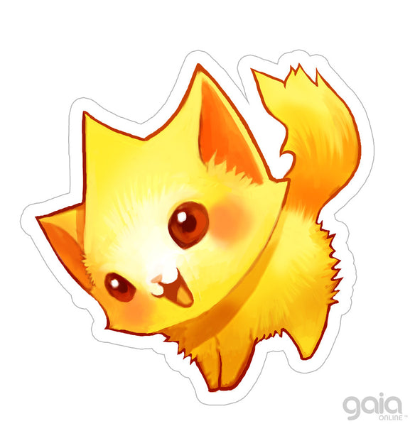Gold Kitten Star Vinyl Stickers