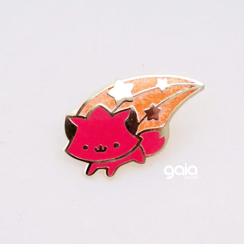 Glitter Birth Stone Kitten Star Pin (January)