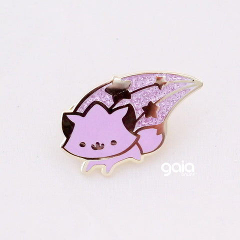 Glitter Birth Stone Kitten Star Pin (February)