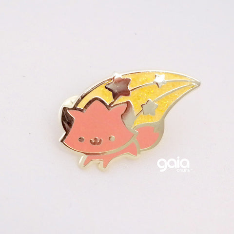Glitter Birth Stone Kitten Star Pin (July)