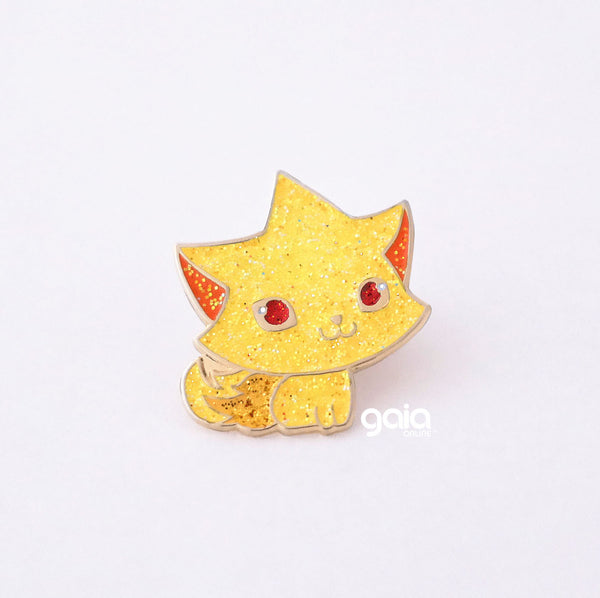 Glitter Kitten Star Pin (Gold)