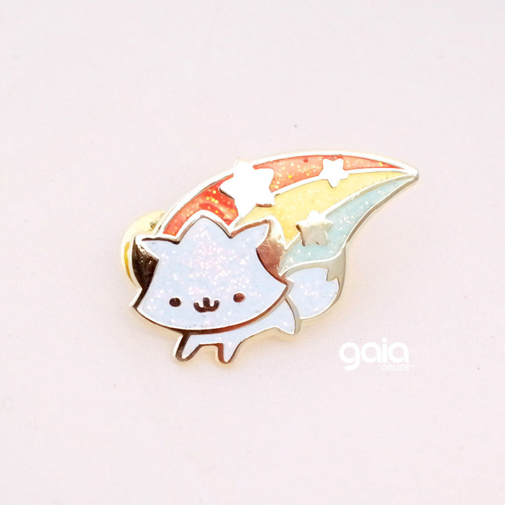Glitter Birth Stone Kitten Star Pin (Rainbow Limited Edition)