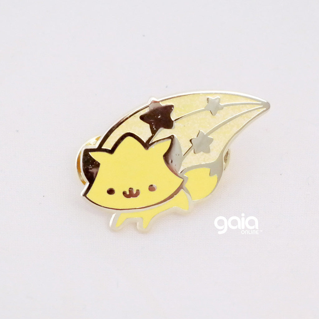 Glitter Birth Stone Kitten Star Pin (November)