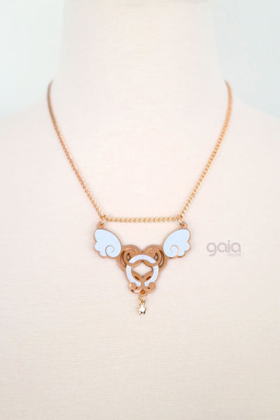 Glitter Halo Necklace (Rose Gold)