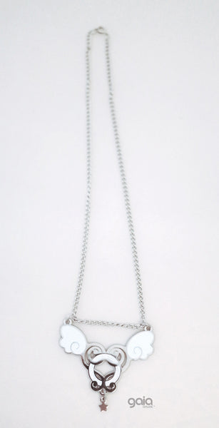 Glitter Halo Necklace (Silver)
