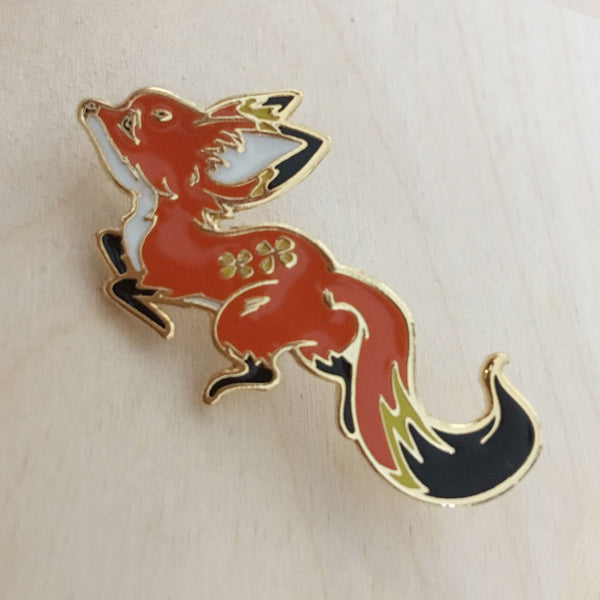 Forest Spirit: Fox Enamel Pin
