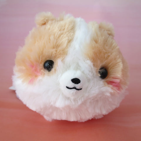 Pomeranian Plush - Light brown/White