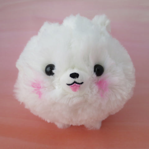 Pomeranian Plush - White