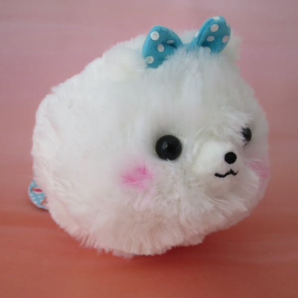 Pomeranian Plush - White with bow