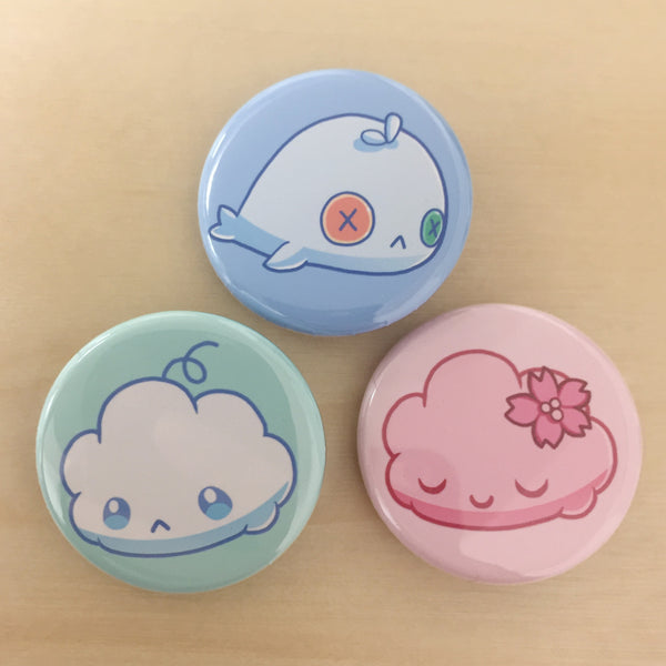 zOMG Button Set D: Fluff/ Watermeat/ Sakura Fluff