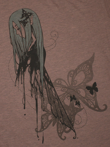 Butterfly Imprint T-Shirt (Women)