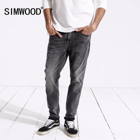 SIMWOOD New Arrive 2019 Spring Jeans Men Fashion Vintage Slim Fit Casual Brand Denim Trousers Plus Size Free Shipping 180315 - Lord's Outdoors