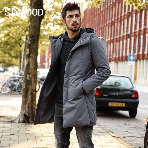 SIMWOOD 2018 Winter  White Duck Down Coats Men Jackets men Fashion Warm Down Jacket Slim Fit Hooded High Quality YR017005 - Lord's Outdoors