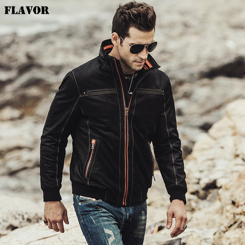 FLAVOR 2017 NEW Men's Real leather coat Padding cotton warm Autumn Winter male Genuine Leather Jacket - Lord's Outdoors
