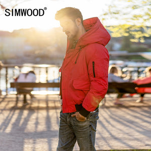 SIMWOOD 2018 Winter Warm Short 90% Grey Duck Down Jacket Men Fashion Hooded Bomber Coats High Quality Brand Clothing Male 180294 - Lord's Outdoors