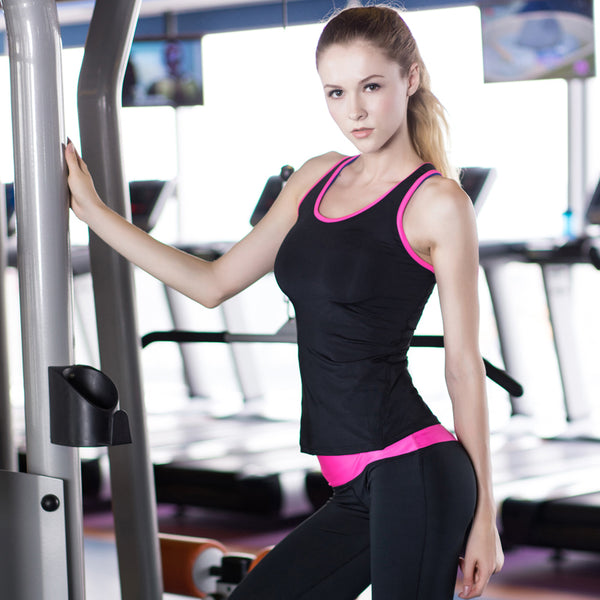 Yuerlian US Local Delivery 3 PCS Sport Yoga Shirt Sleeveless Sportswear Blouses Running Vest Workout Crop Top Female T-shirt - Lord's Outdoors