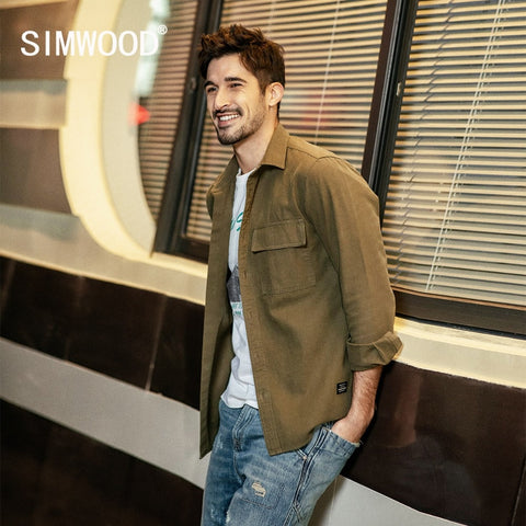 SIMWOOD New 2019 Men Shirt Spring Casual Shirts Men Thick Brand Clothes Camisa Masculina 100% Cotton Male High Quality 190094 - Lord's Outdoors