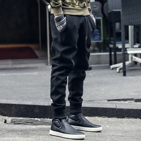 joggers sweatpants men new hip-hop sweatpants men solid casual harem pants masculino brand mens Thicken cotton trousers K463 - Lord's Outdoors