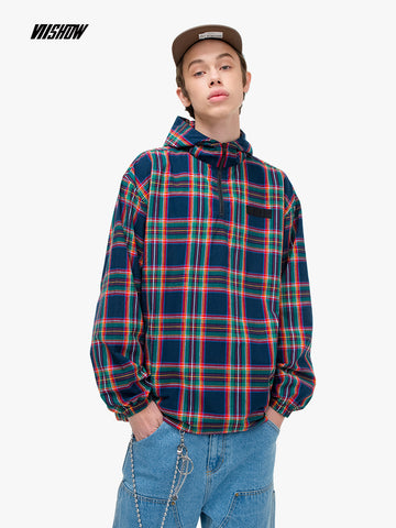 Viishow Streetwear Plaid Men's Shirt Brand Hooded Shirt Men Clothing 2019 New Spring Cotton Shirts Camisa Masculina CC1050191 - Lord's Outdoors