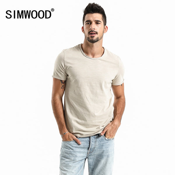 Simwood New Men's Summer Short Sleeve O-neck Casual Slim T-shirt - Lord's Outdoors