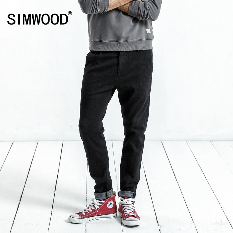 SIMWOOD 2019 Spring  New Casual Jeans Men Skinny Biker Jeans Male Denim Pants Fashion Embroidery Pocket  Slim Fit NC017045 - Lord's Outdoors
