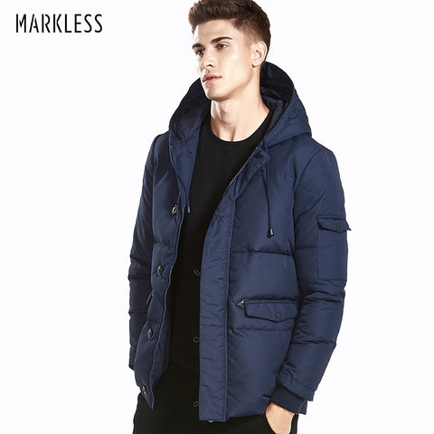 Markless 2018 Winter Down Jackets Men Brand Clothing 90% White Duck Down Thick Warm Windproof Parka Hooded Winter Coat YRA5316 - Lord's Outdoors