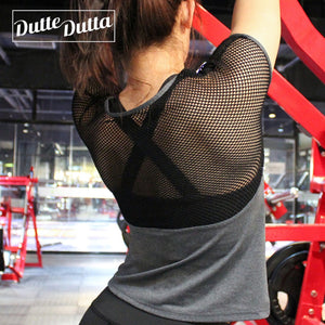 Duttedutta Sexy Quick Dry Breathable Mesh Fitness Sport Shirt - Lord's Outdoors